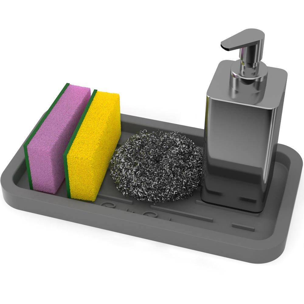 Kitchen Soap Caddy Organizer  Good to Good Sponge Holder Kitchen Sink Organizer Tray