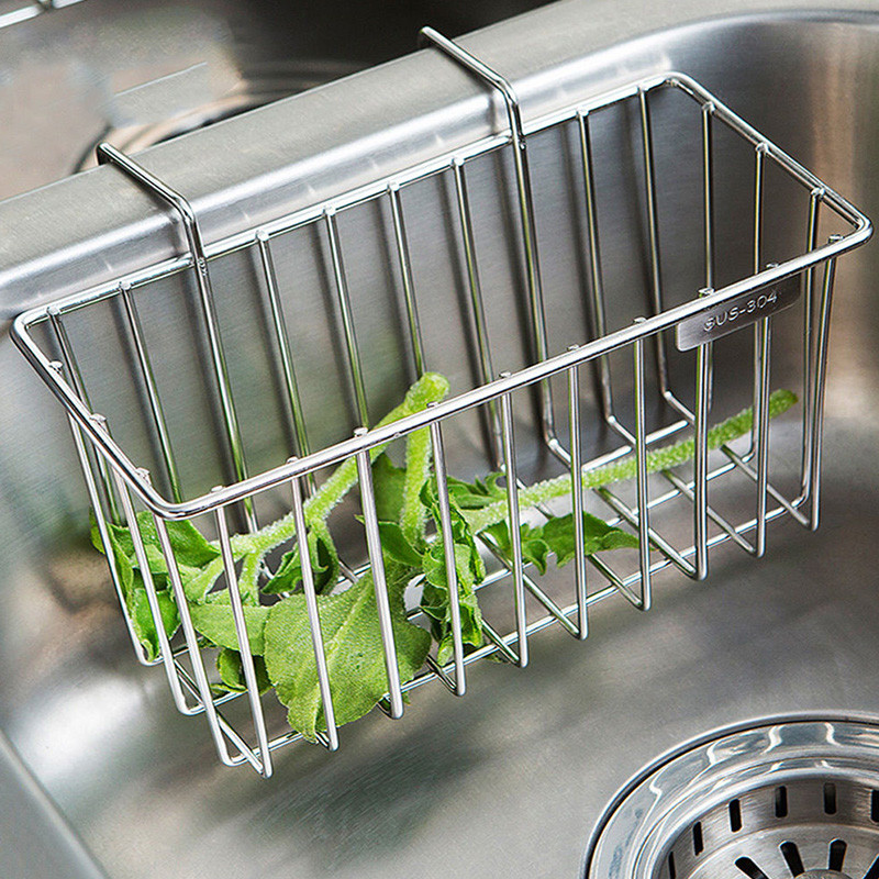 Kitchen Soap Caddy Organizer  Kitchen Sponge Holder Sink Caddy Brush Soap Drainer Rack
