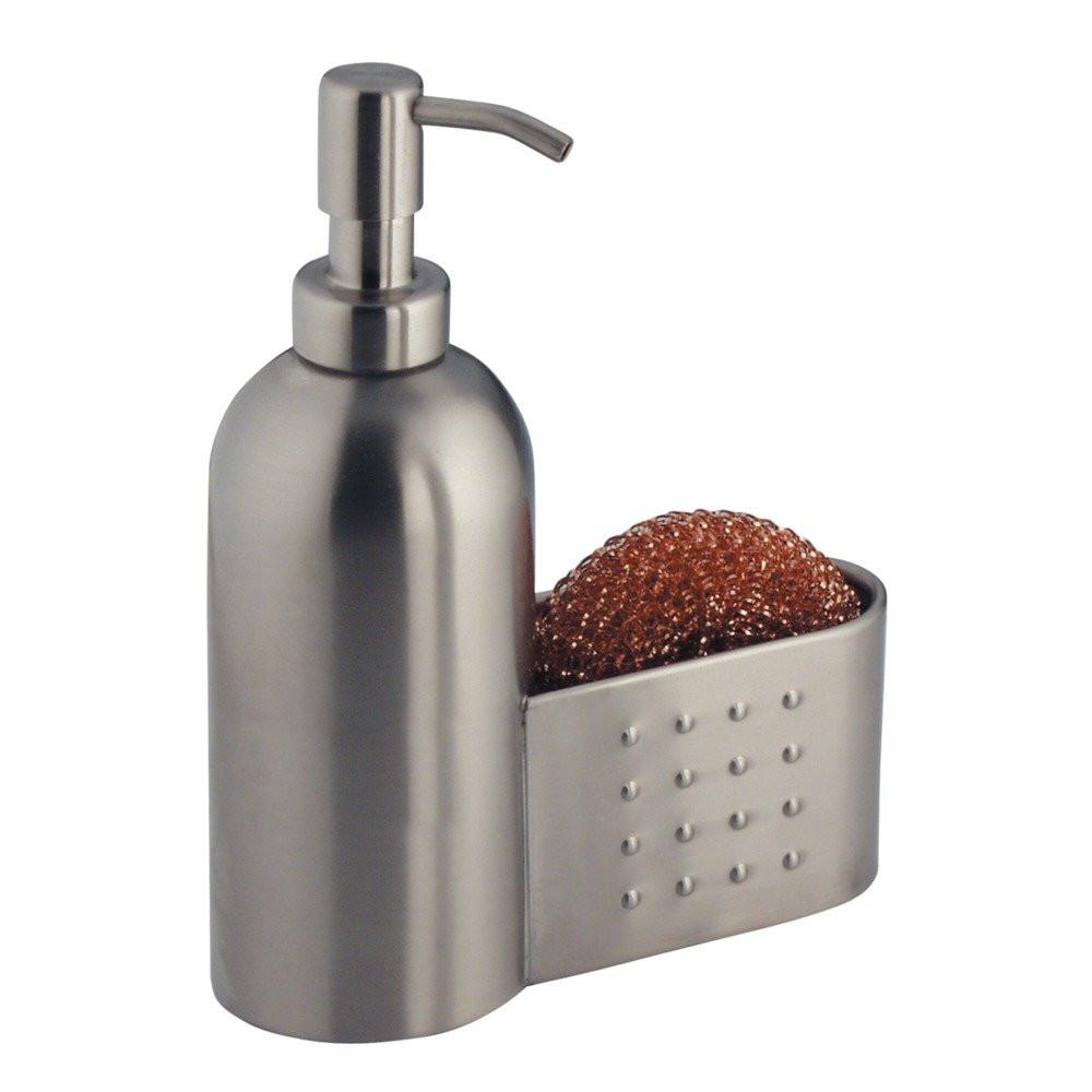 Kitchen Soap Caddy Organizer  InterDesign Forma Kitchen Caddy with Soap Dispenser Pump