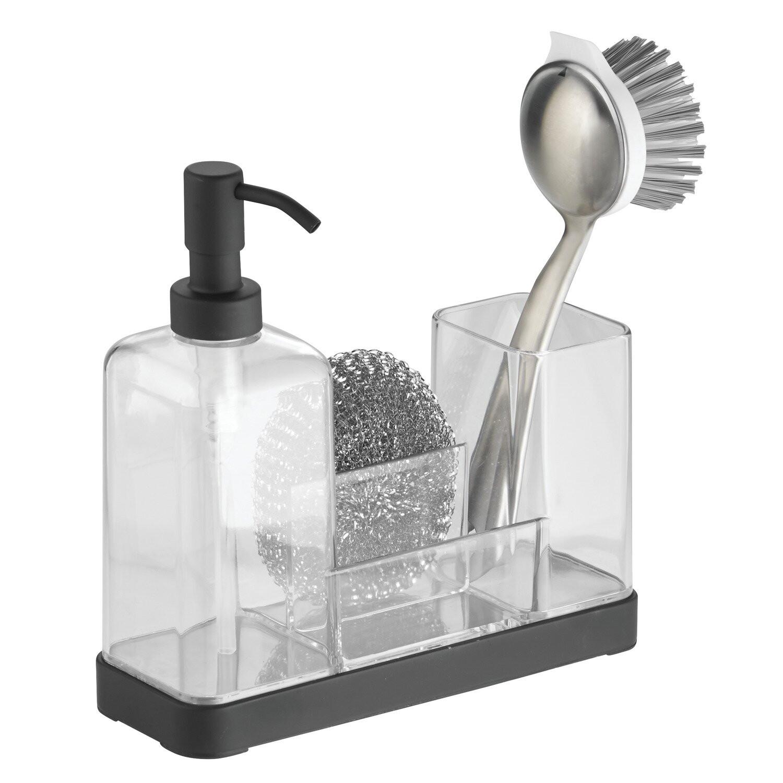 Kitchen Soap Caddy Organizer  InterDesign Forma Kitchen Soap Dispenser Pump Sponge