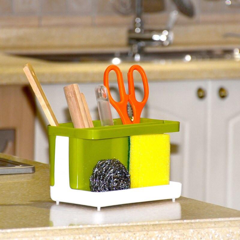 Kitchen Soap Caddy Organizer  Kitchen Storage Organizer Rack Soap Sponge Brush Holder