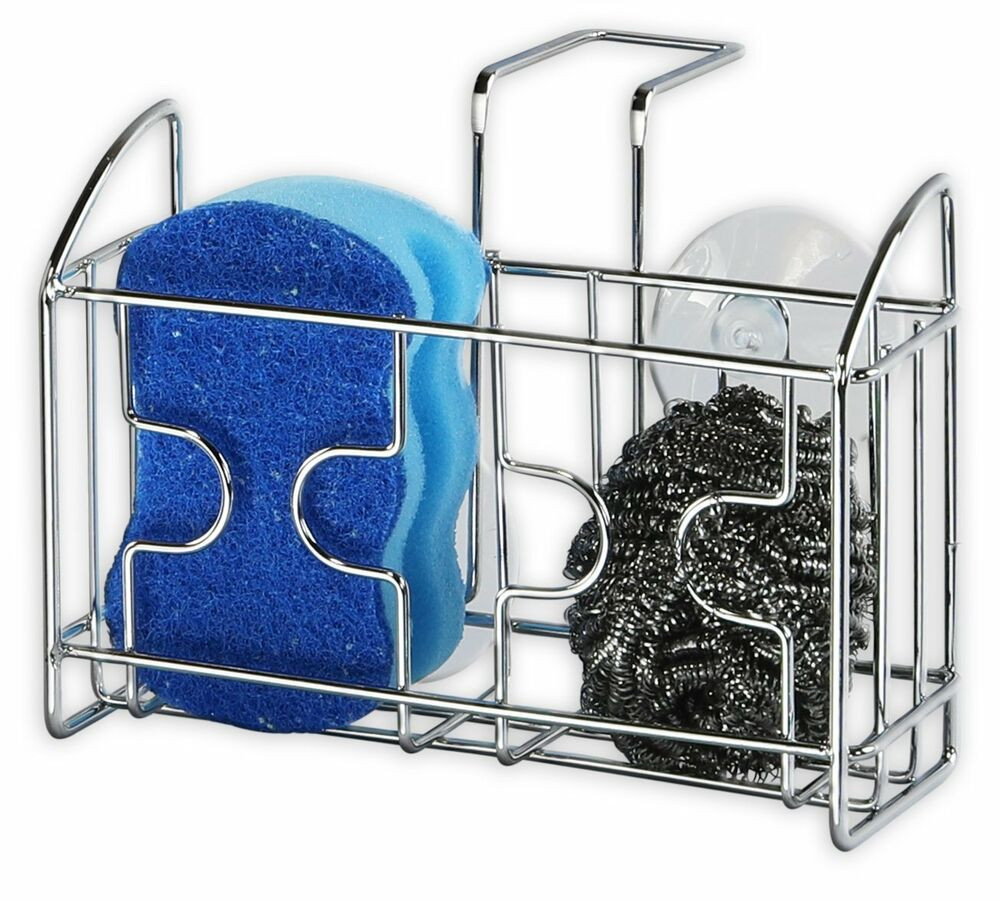 Kitchen Soap Caddy Organizer  Slim Kitchen Sink Caddy Brushed Stainless Steel Sponges