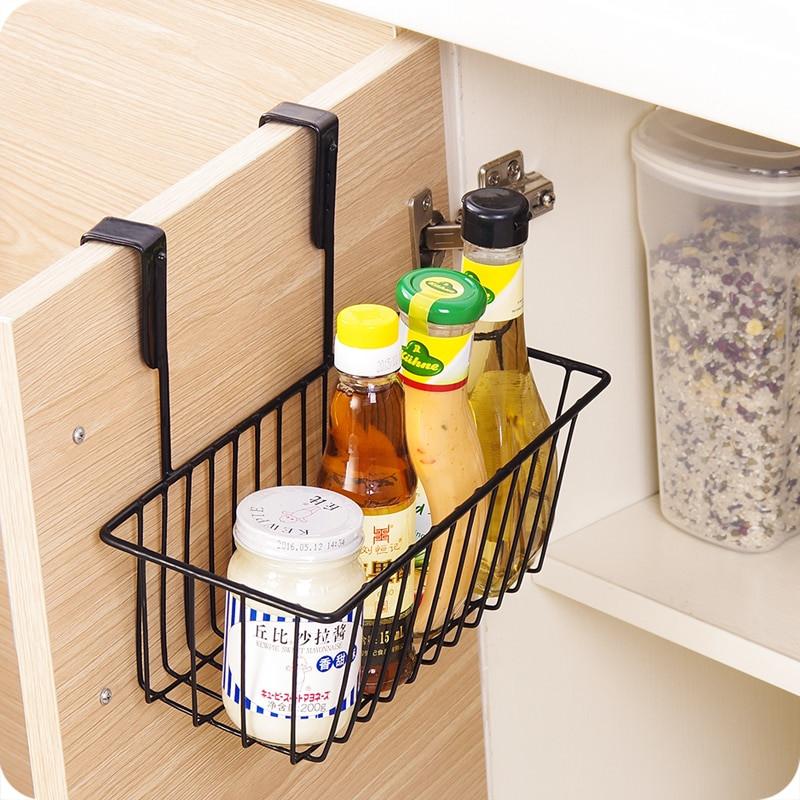 Kitchen Storage Baskets  Iron Kitchen Storage Basket Cabinet Storage Rack Food