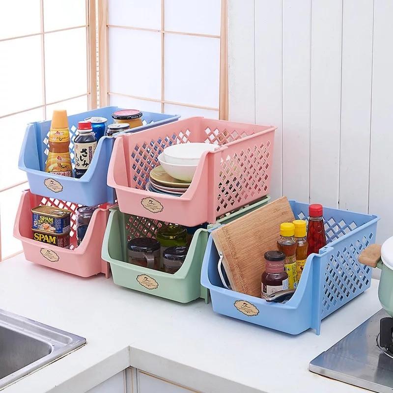Kitchen Storage Baskets  Stackable Storage Basket Kitchen Tools Ve able Fruit