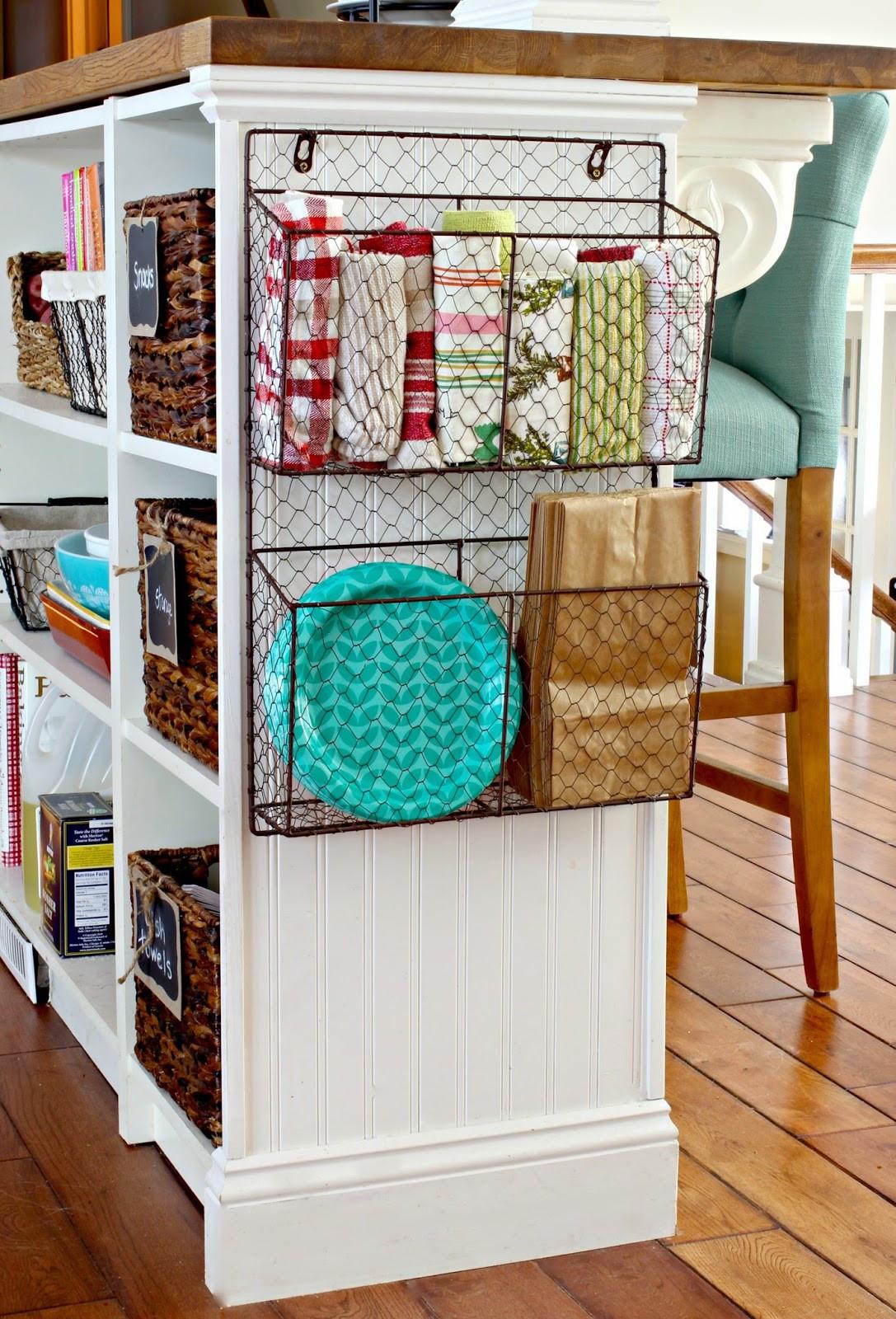 Kitchen Storage Baskets  25 Kitchen and Pantry Organization & Ideas