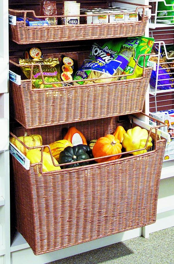Kitchen Storage Baskets  Wicker Baskets Chic Storage Solutions For Home
