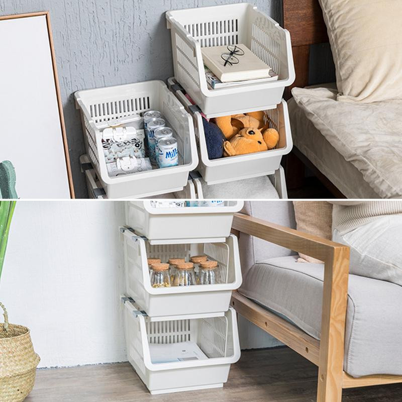 Kitchen Storage Baskets  Kitchen Stackable Storage Bins Fruit Ve able Plastic