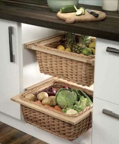 Kitchen Storage Baskets  Wicker Kitchen Baskets For 400 600 mm Width Cabinets With