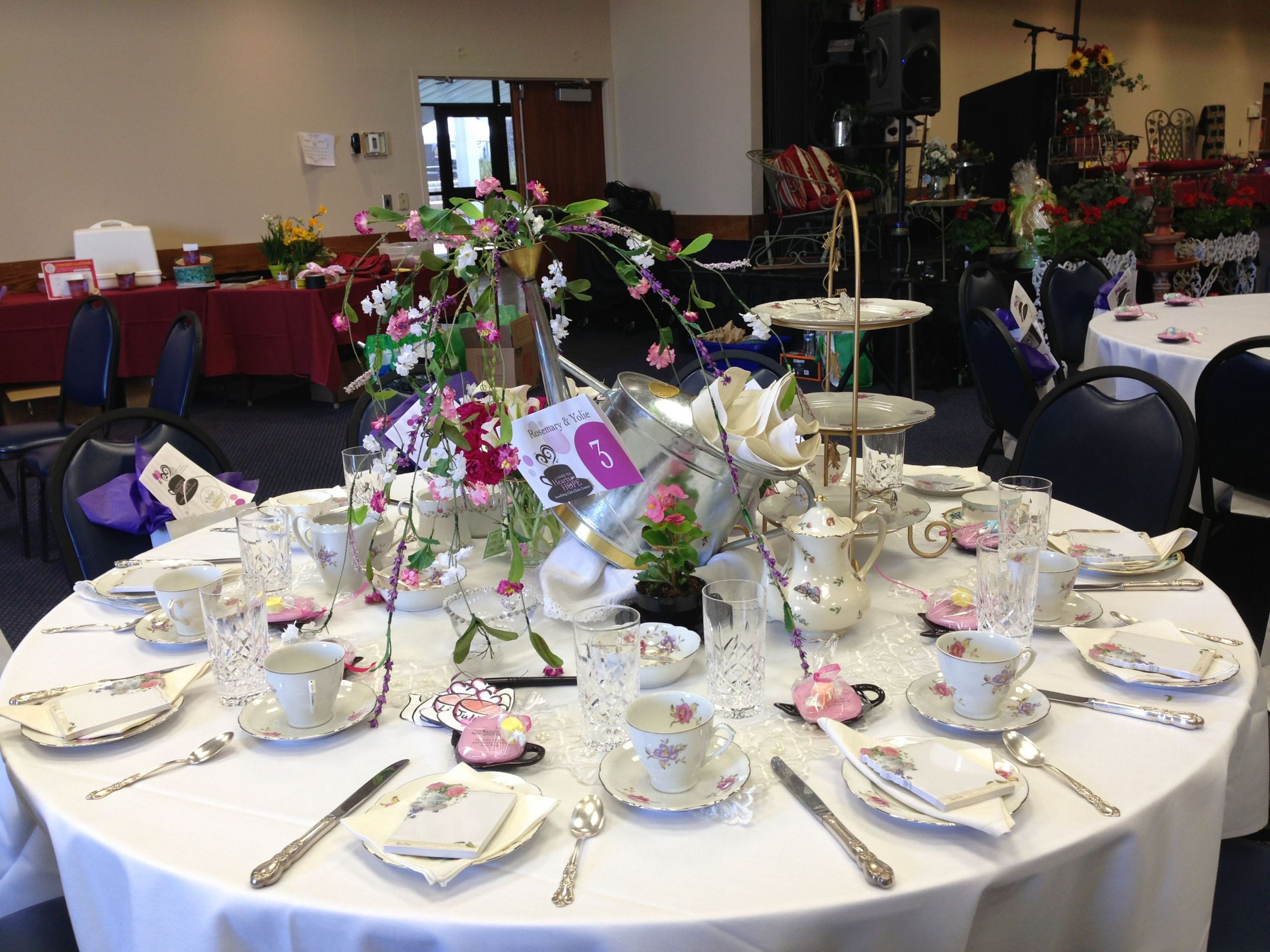 "Ladies Tea Party Ideas  Decorated for a la s Tea Party for charity ""Club Christ"