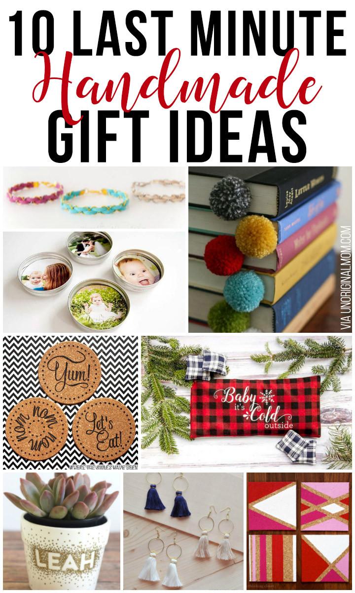 Last Minute Holiday Gift Ideas  10 Last Minute Handmade Gift Ideas unOriginal Mom