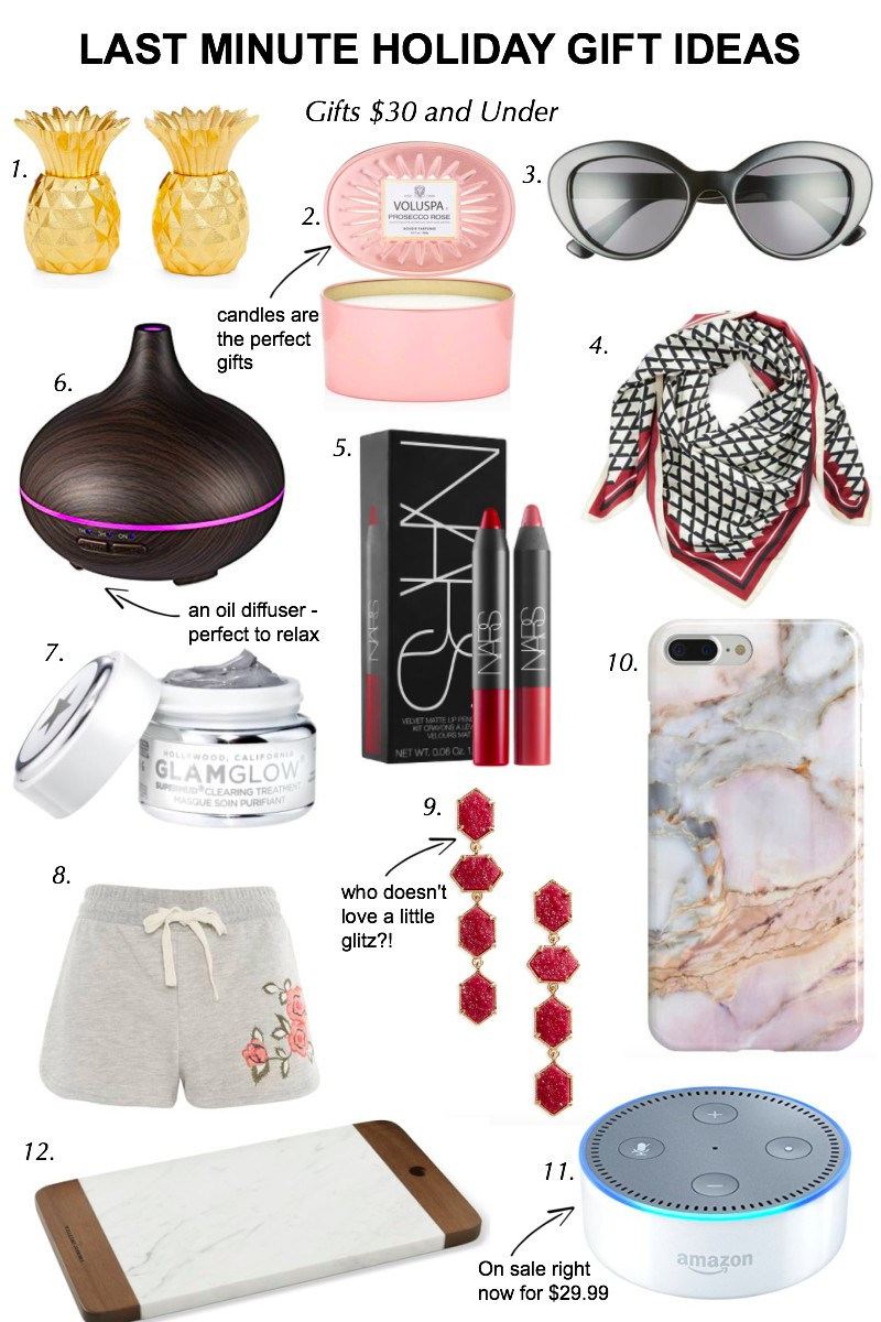 Last Minute Holiday Gift Ideas  Last Minute Holiday Gift Guide Under $30