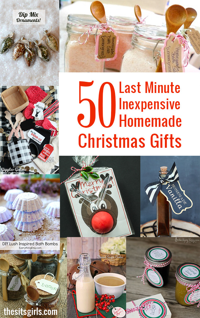 Last Minute Holiday Gift Ideas  50 Last Minute Inexpensive Homemade Christmas Gifts