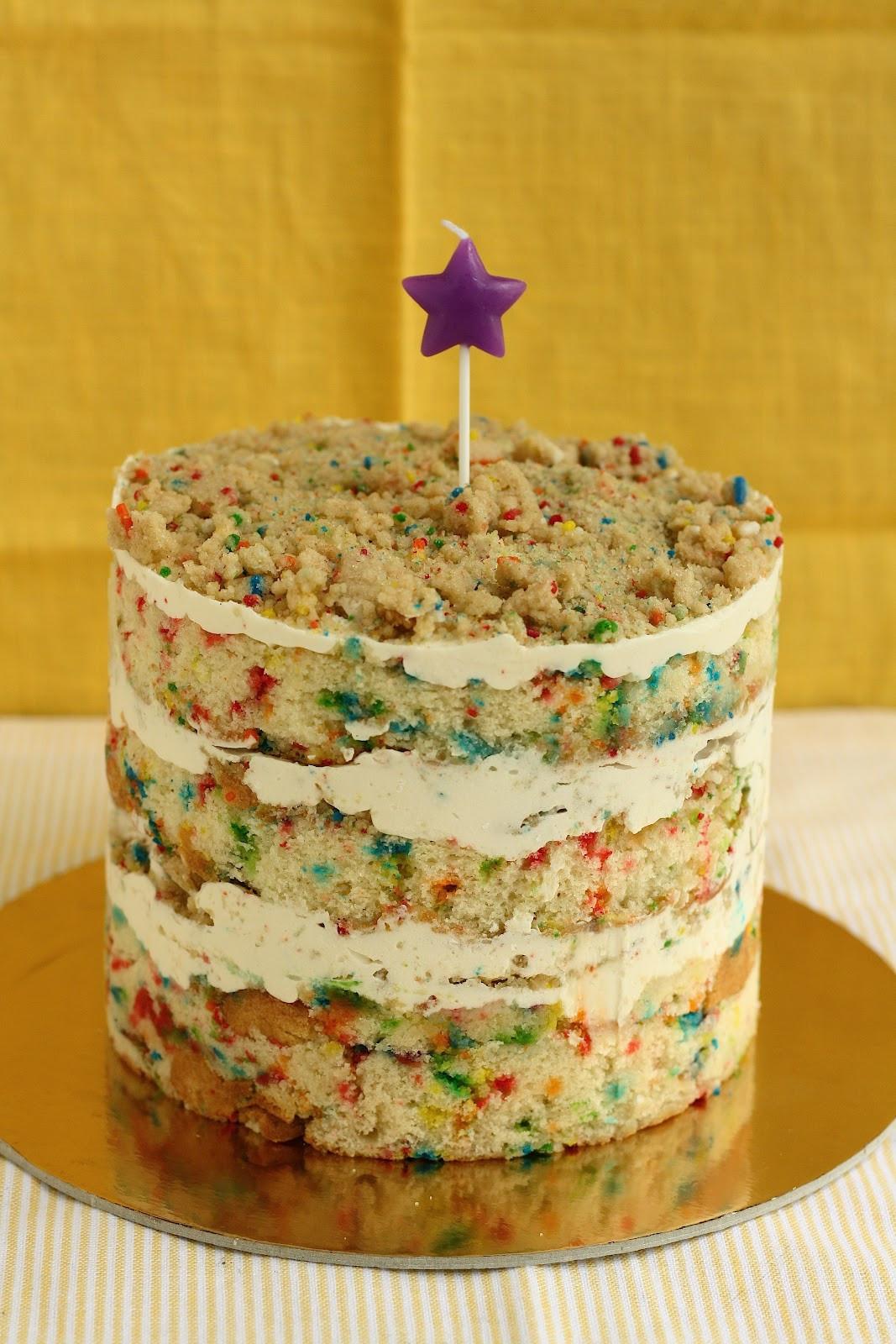 Layered Birthday Cake Recipes  Funfetti Birthday Layer Cake from Momofuku Milk Bar