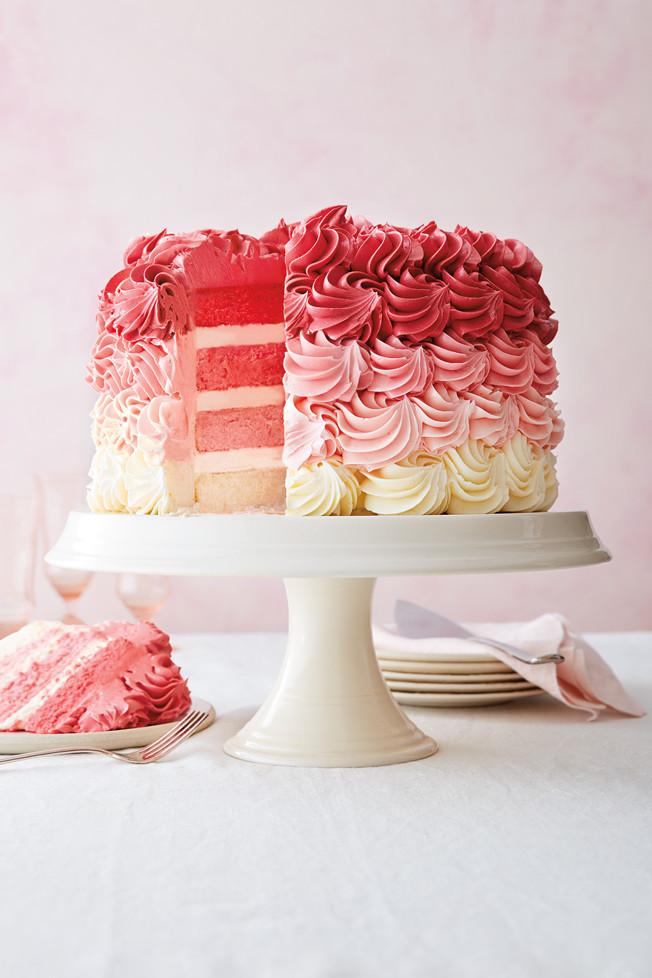Layered Birthday Cake Recipes  Vanilla Ombré Layer Cake Recipe