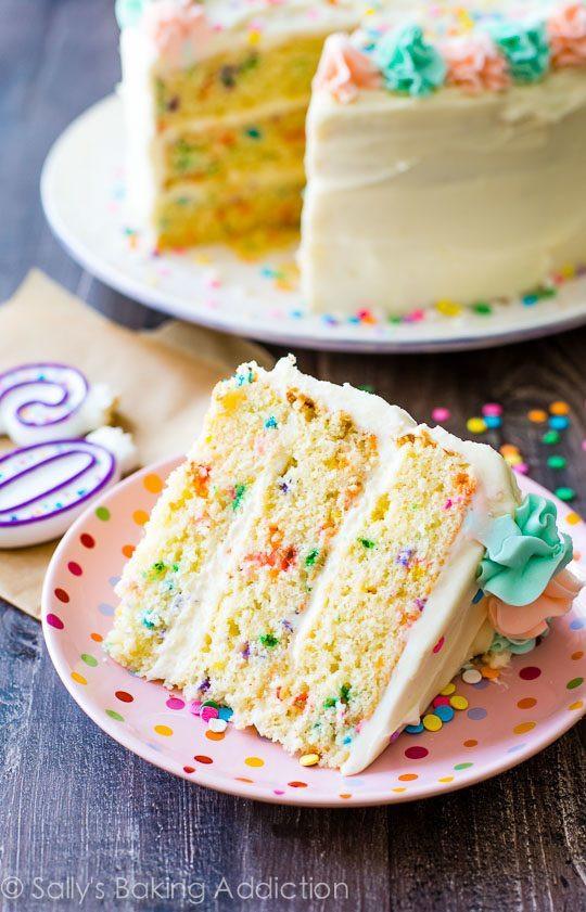 Layered Birthday Cake Recipes  Funfetti Layer Cake Sallys Baking Addiction