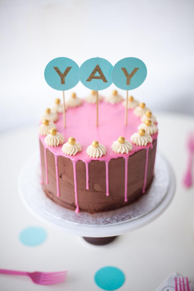 Layered Birthday Cake Recipes  Layered Birthday Drippy Cake Recipe