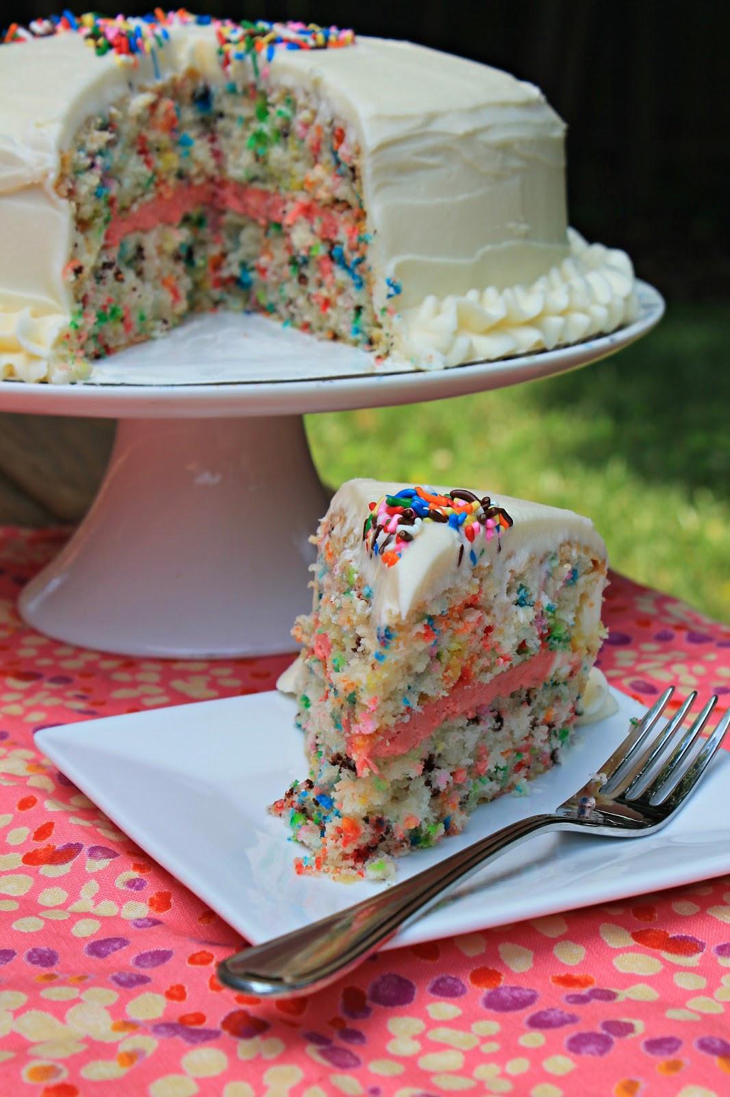 Layered Birthday Cake Recipes  Easy Funfetti Layered Birthday Cake Carolina Charm