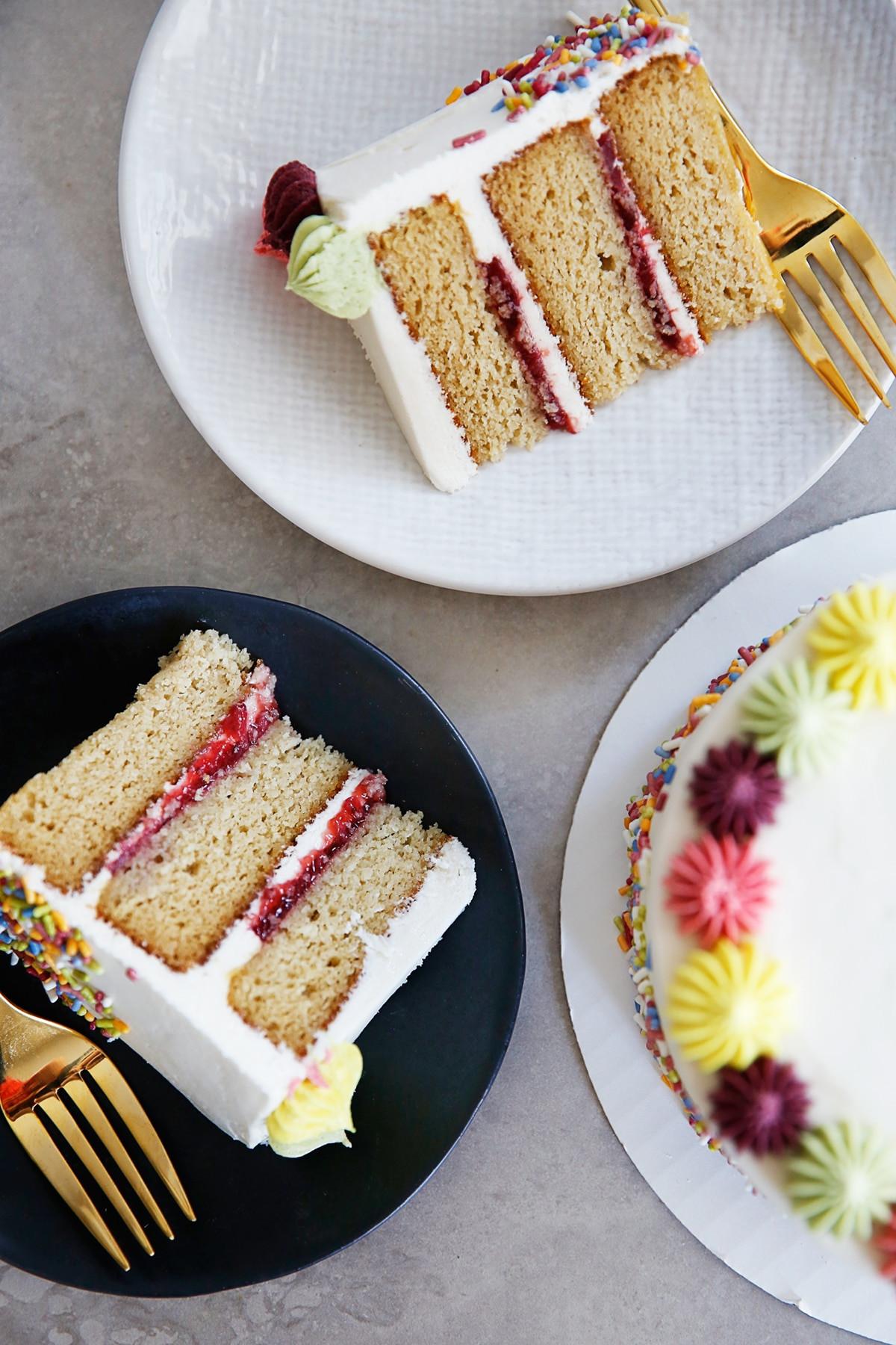 Layered Birthday Cake Recipes  The BEST Gluten Free Layer Birthday Cake Lexi s Clean