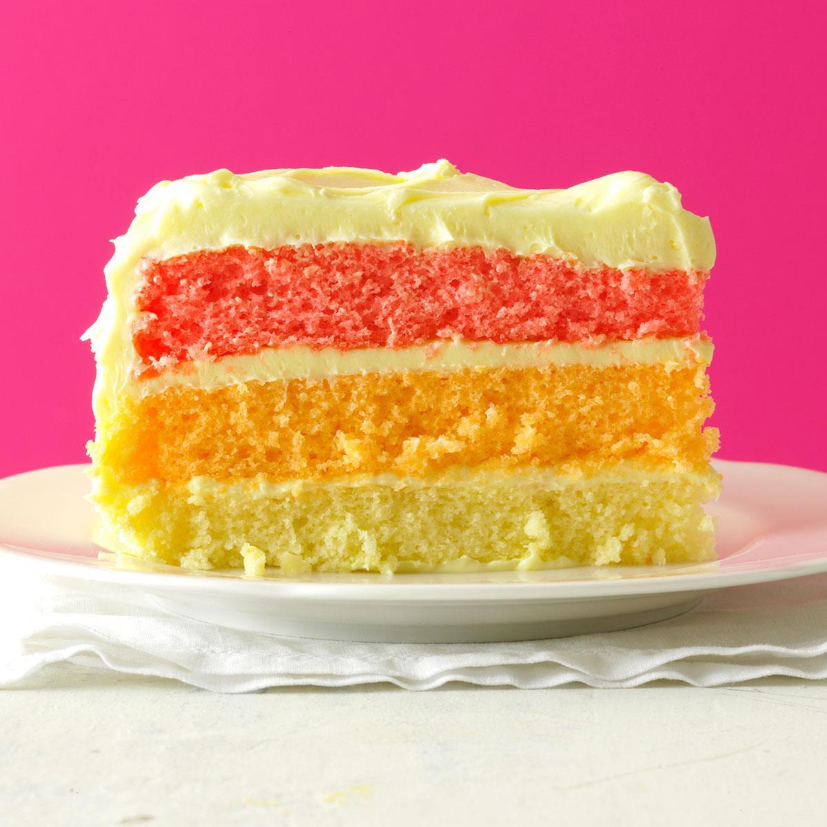 Layered Birthday Cake Recipes  Rainbow Layer Cake Recipe