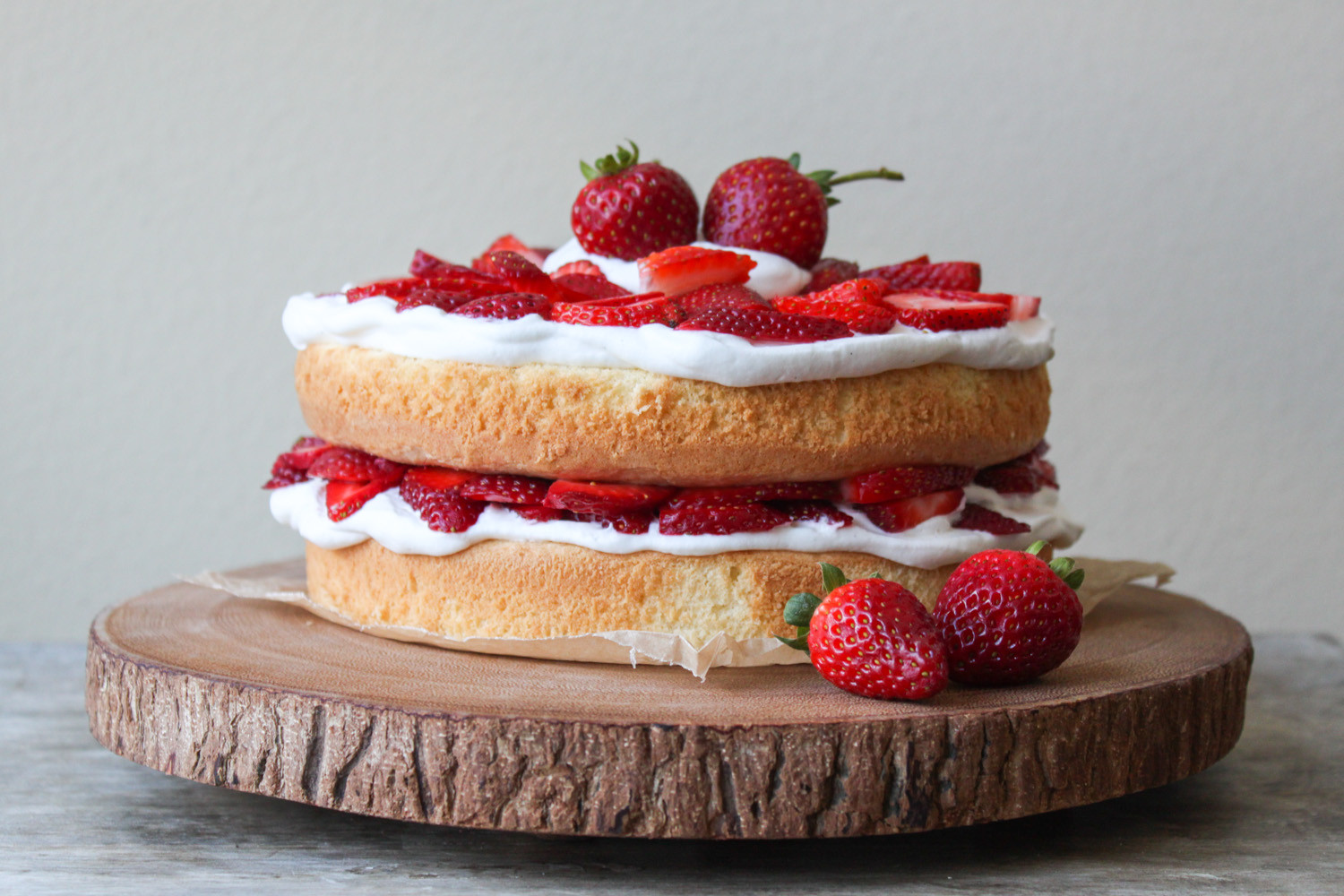Layered Birthday Cake Recipes  Strawberry Layer Cake The Little Epicurean