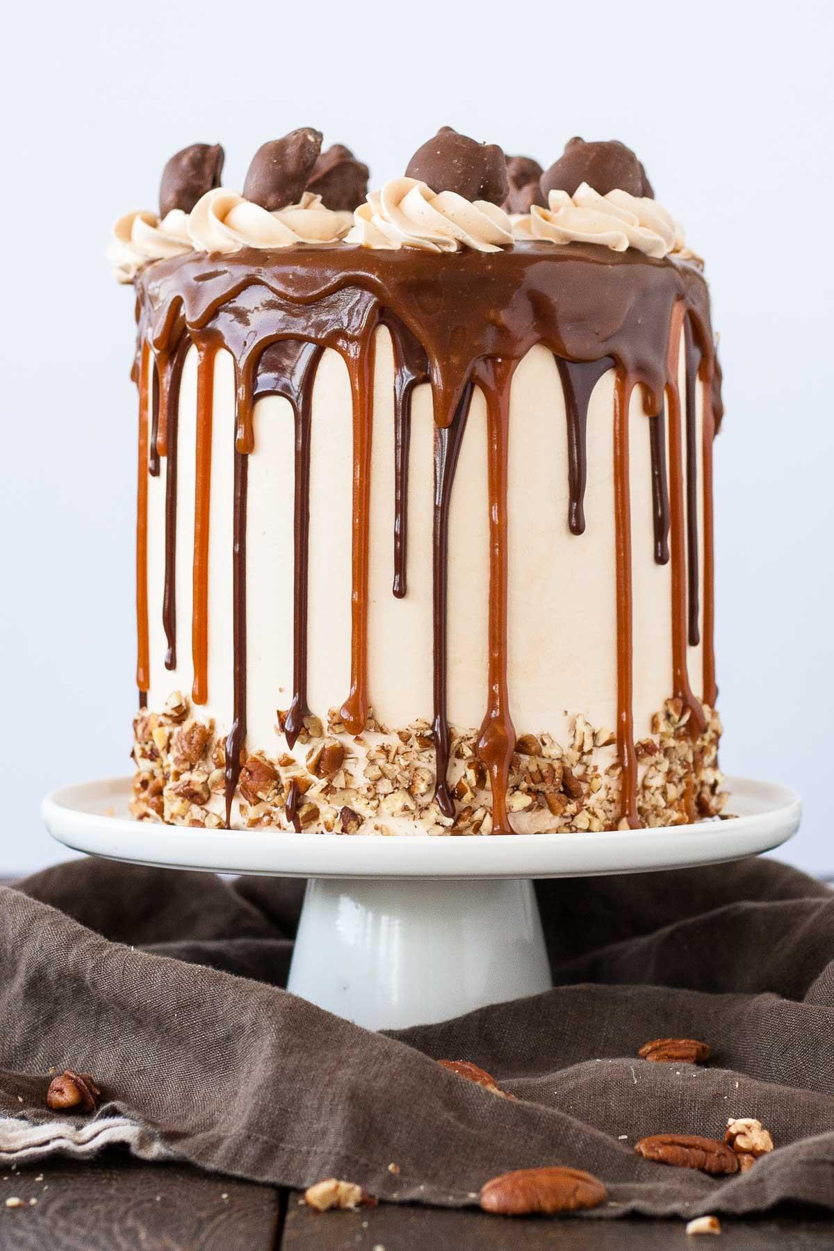 Layered Birthday Cake Recipes  Turtles Layer Cake