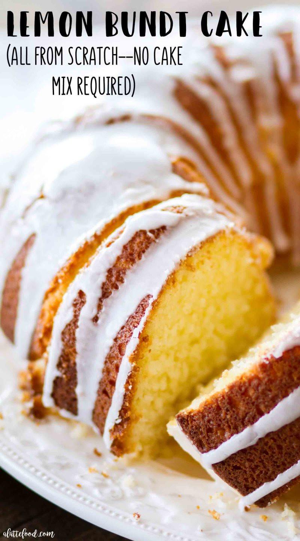 Lemon Bundt Cake From Cake Mix  Easy Lemon Bundt Cake Recipe A Latte Food