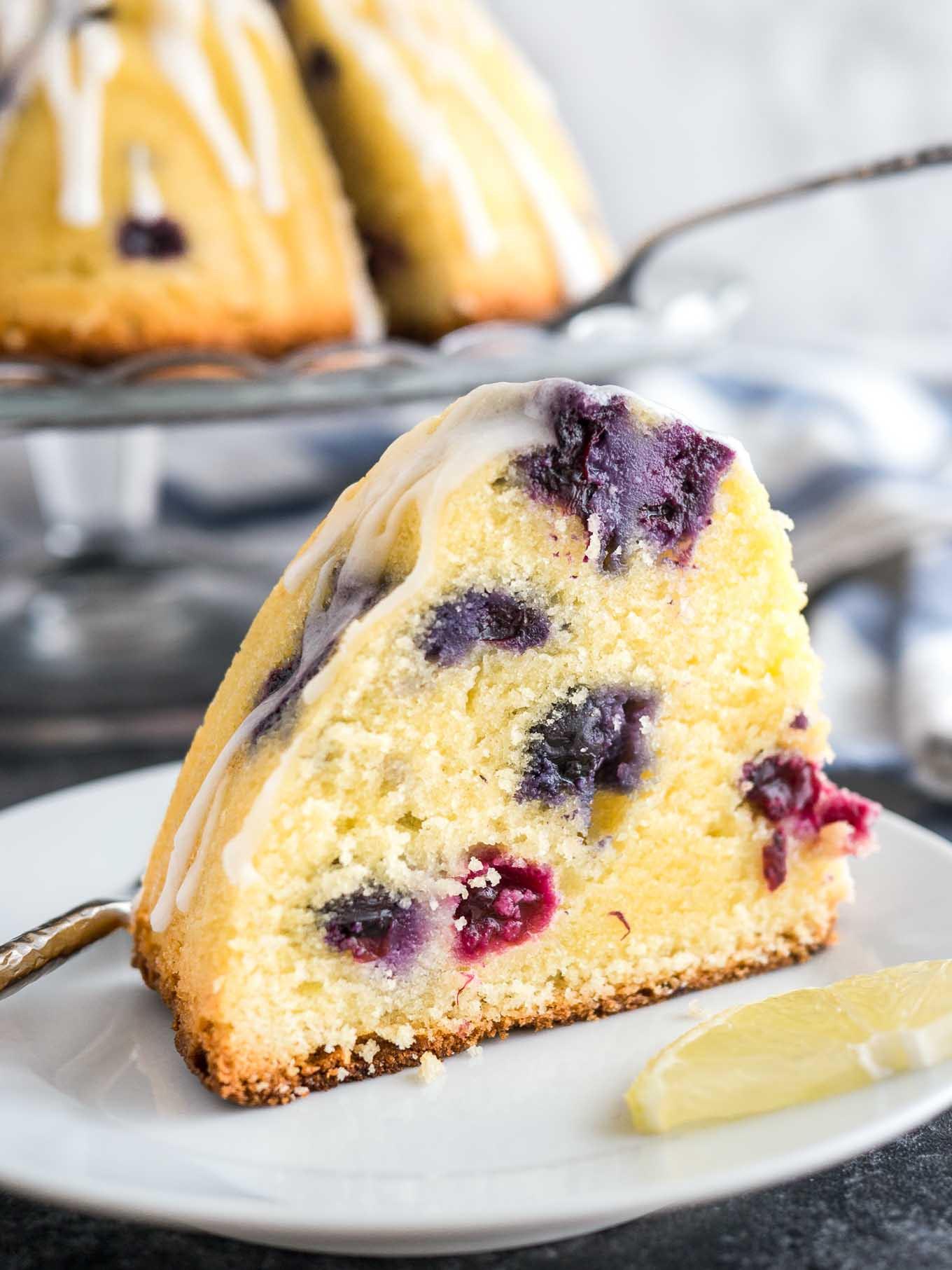 Lemon Bundt Cake From Cake Mix  lemon blueberry bundt cake using cake mix