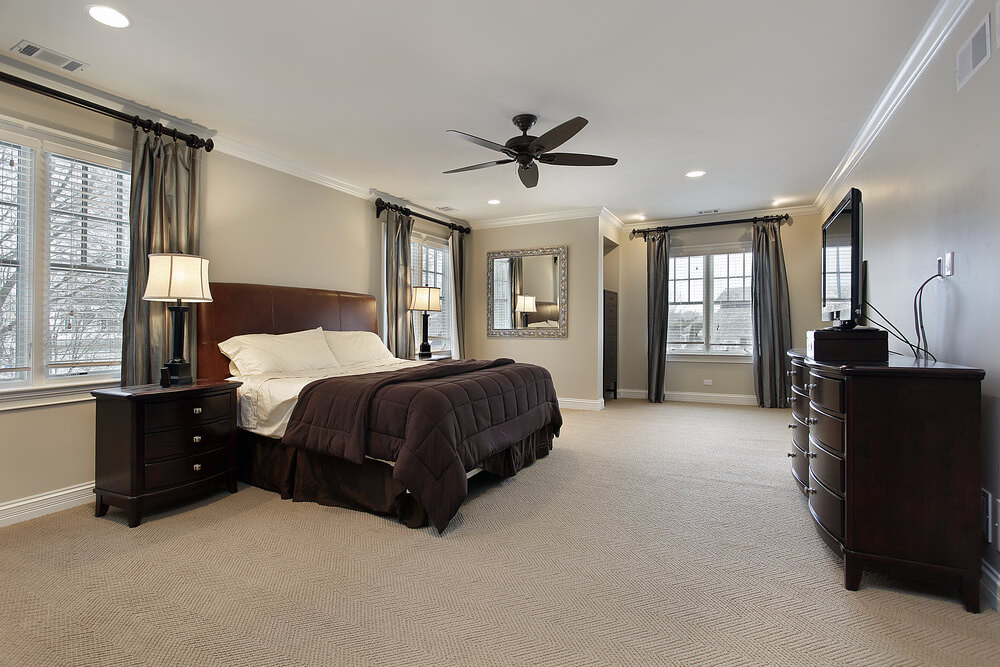 Light Brown Bedroom  16 Luxurious Bedrooms plete with Flatscreen Televisions