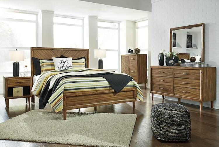 Light Brown Bedroom  Broshtan Light Brown Bedroom Set SpeedyFurniture
