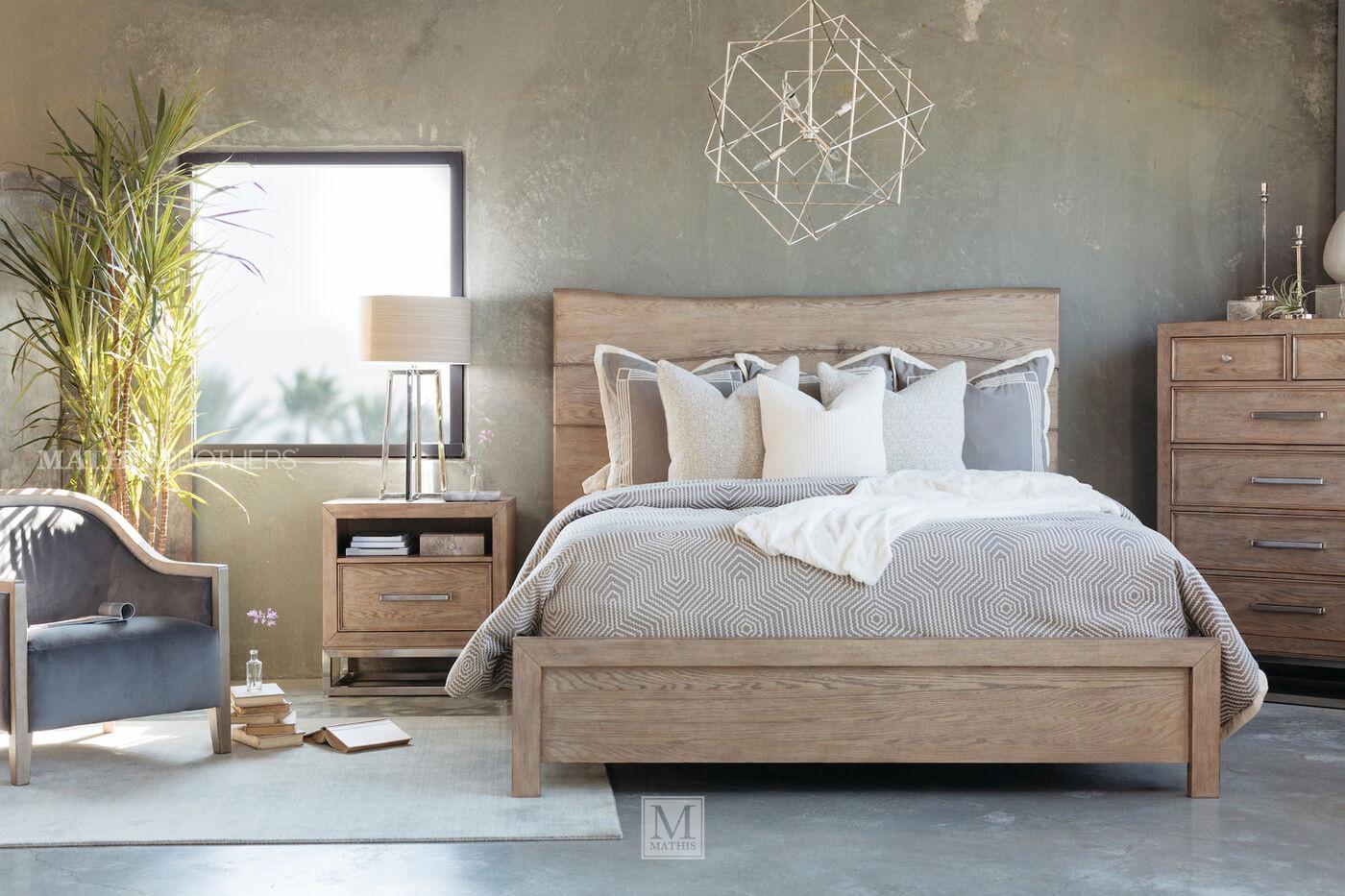 "Light Brown Bedroom  62 5"" Butterfly Dowel Coastal Bed in Light Brown"