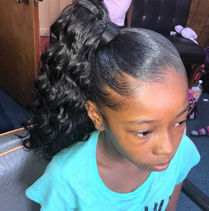 Little Black Girl Hairstyles  15 of The Cutest Ponytail Hairstyles for Little Black Girls