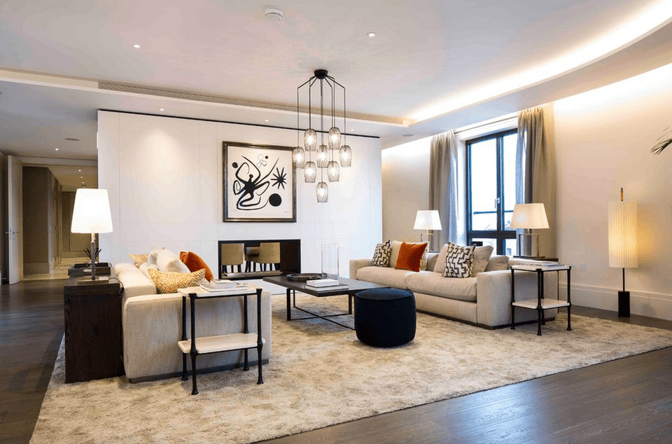 Living Room Spotlights  15 Beautiful Living Room Lighting Ideas