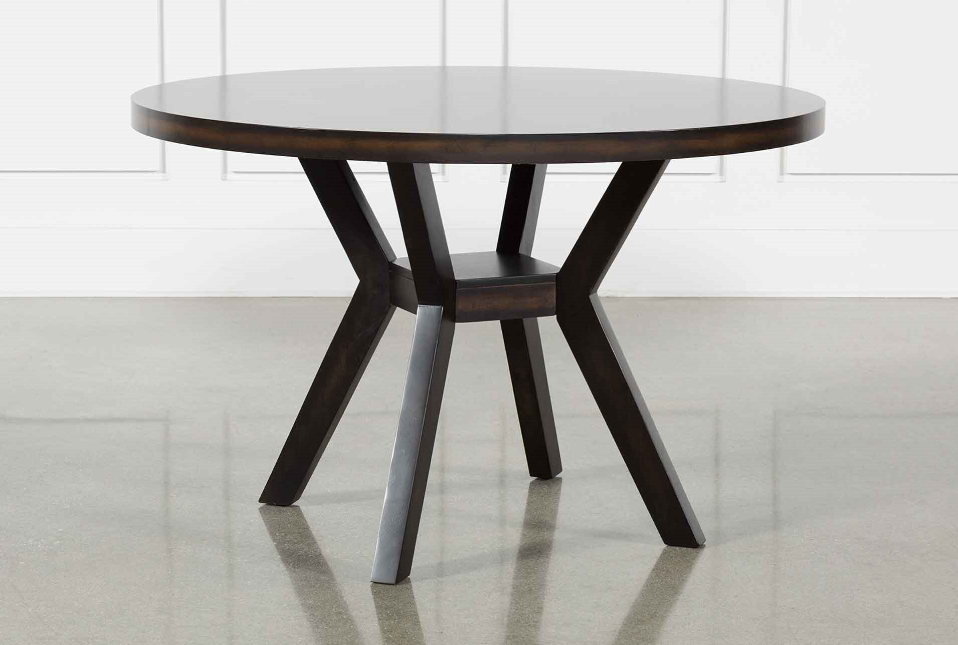 Living Spaces Kitchen Tables  Macie Black Dining Table
