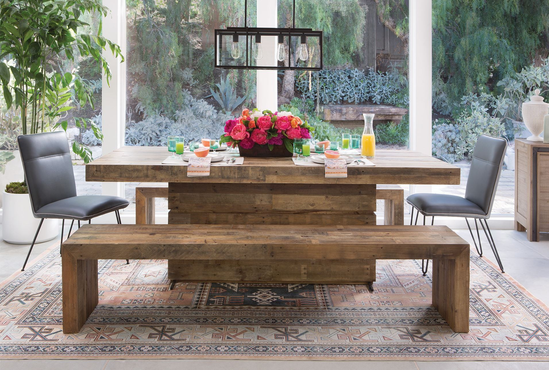 Living Spaces Kitchen Tables  Tahoe II 89 Inch Dining Table Living Spaces