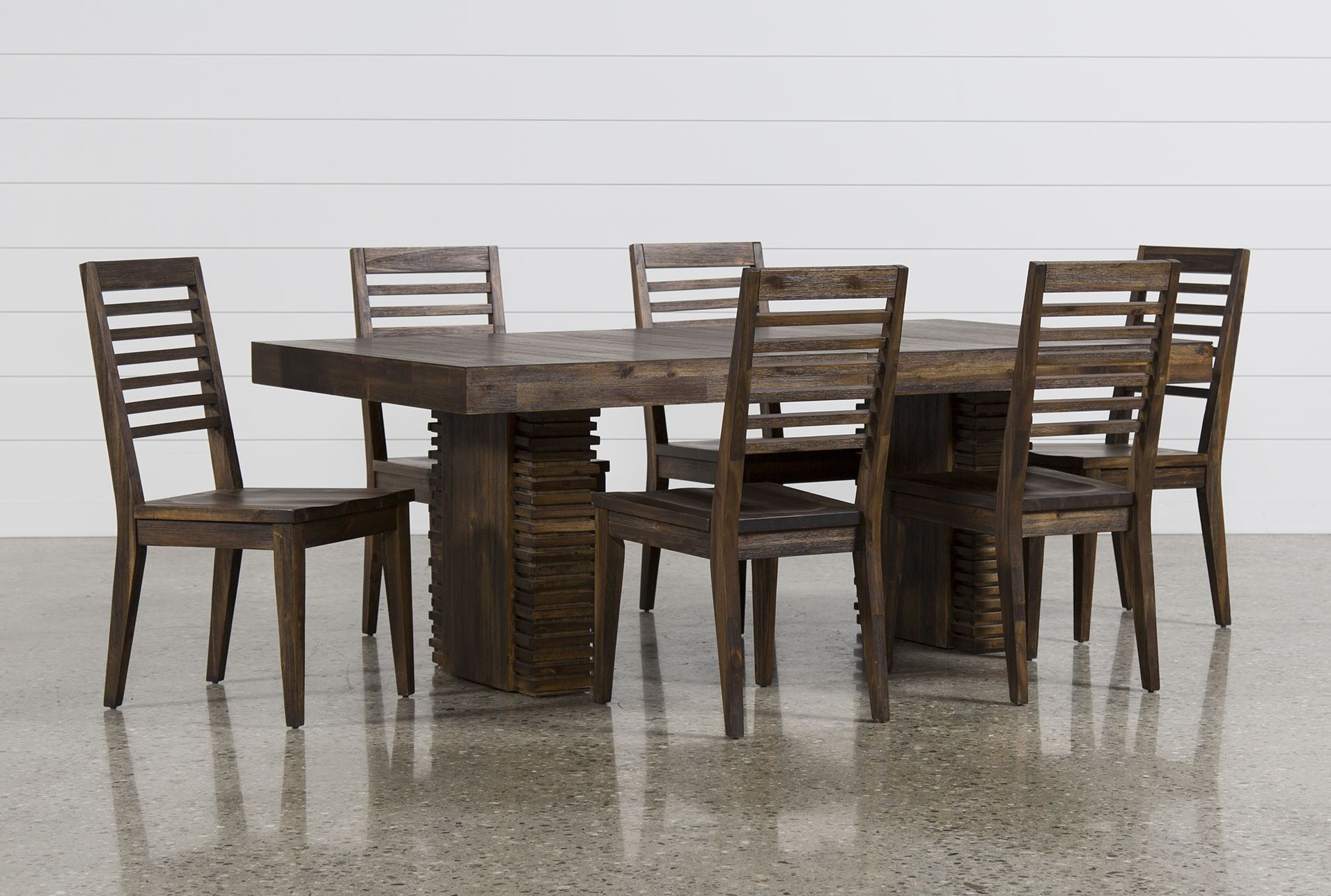 Living Spaces Kitchen Tables  Teagan 7 Piece Extension Dining Set Living Spaces