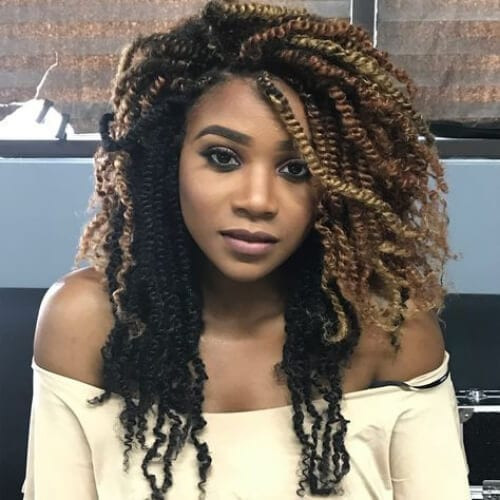 Long Kinky Twist Hairstyles  30 Kinky Twist Hairstyles for Style & Protection