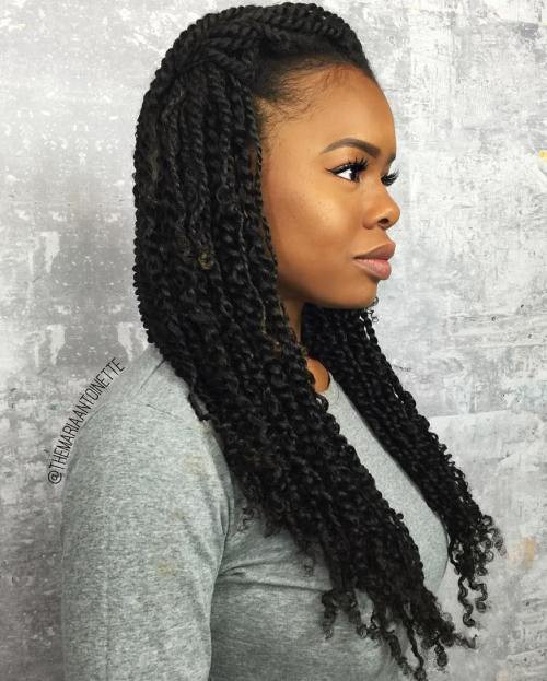 Long Kinky Twist Hairstyles  30 Hot Kinky Twists Hairstyles to Try in 2017