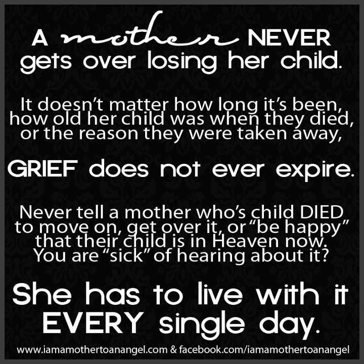 Losing A Mother Quotes From Daughter  Mother Grieving Loss of Child Anthony David