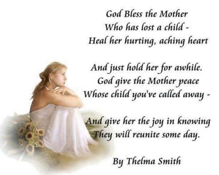 Losing A Mother Quotes From Daughter  Bereaved Mother Loss of Child Sympathy