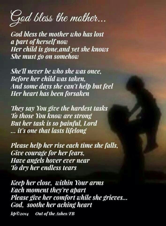 Losing A Mother Quotes From Daughter  INSPIRATIONAL QUOTES TO A MOTHER WHO LOST HER SON image