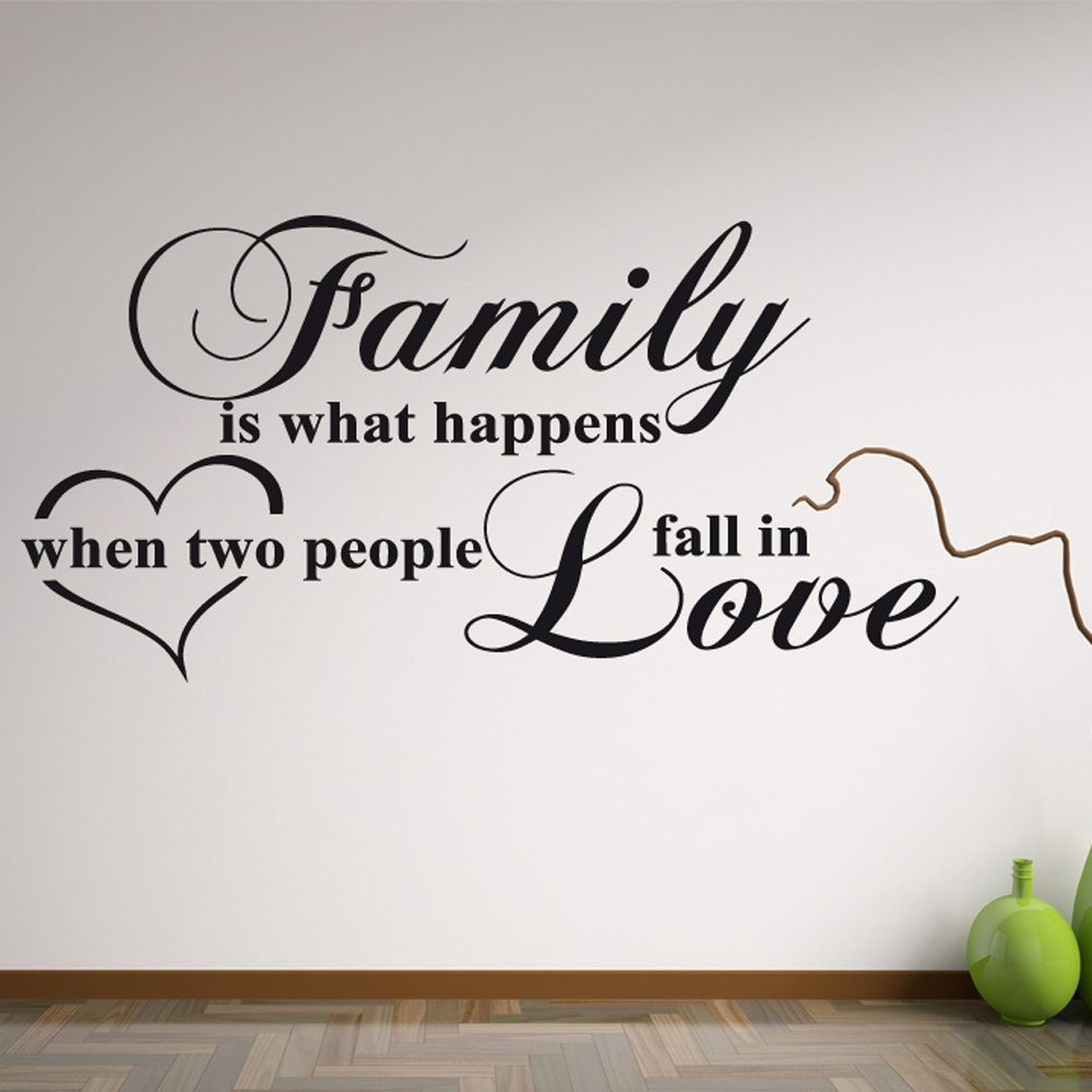 Love Family Quotes  Family Love Wall Sticker Quote Wall Chimp UK