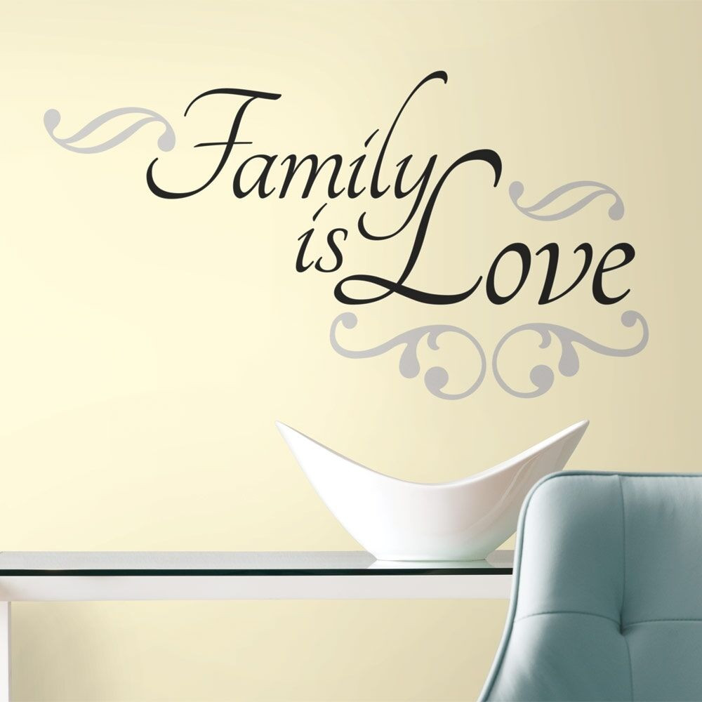Love Family Quotes  New FAMILY IS LOVE WALL DECALS Black Room Stickers Room