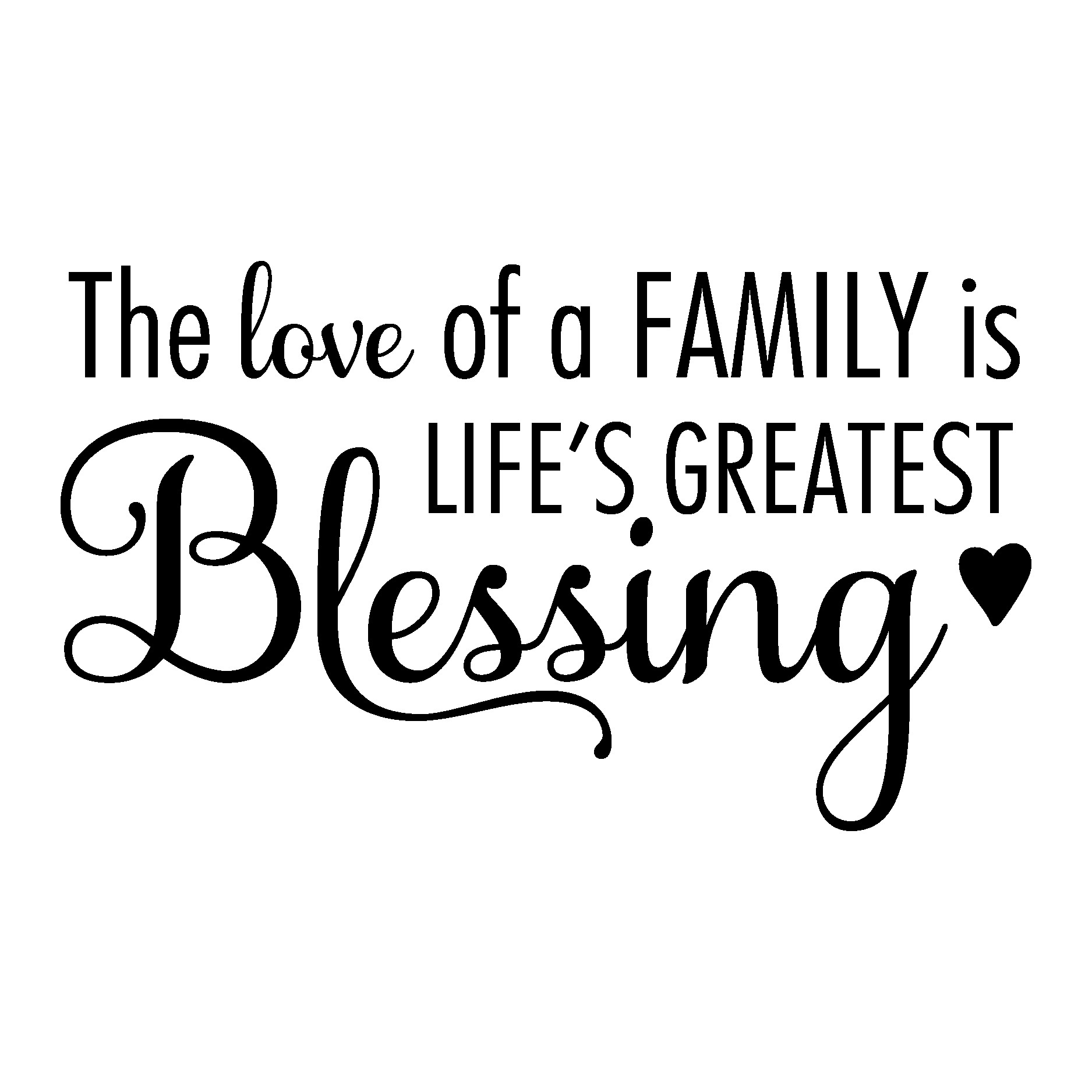 Love Family Quotes  The Love of A Family Wall Quotes™ Decal