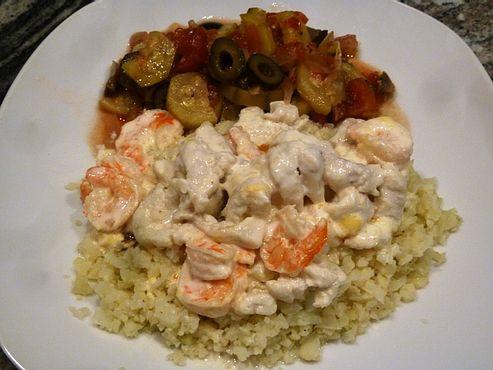 Low Carb Seafood Casserole  Low Carb Dover Sole & Shrimp Seafood Casserole Smokin