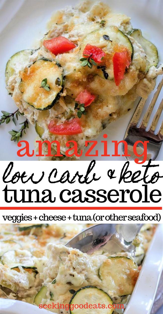 Low Carb Seafood Casserole  Low Carb Tuna Casserole Keto Seafood Casserole