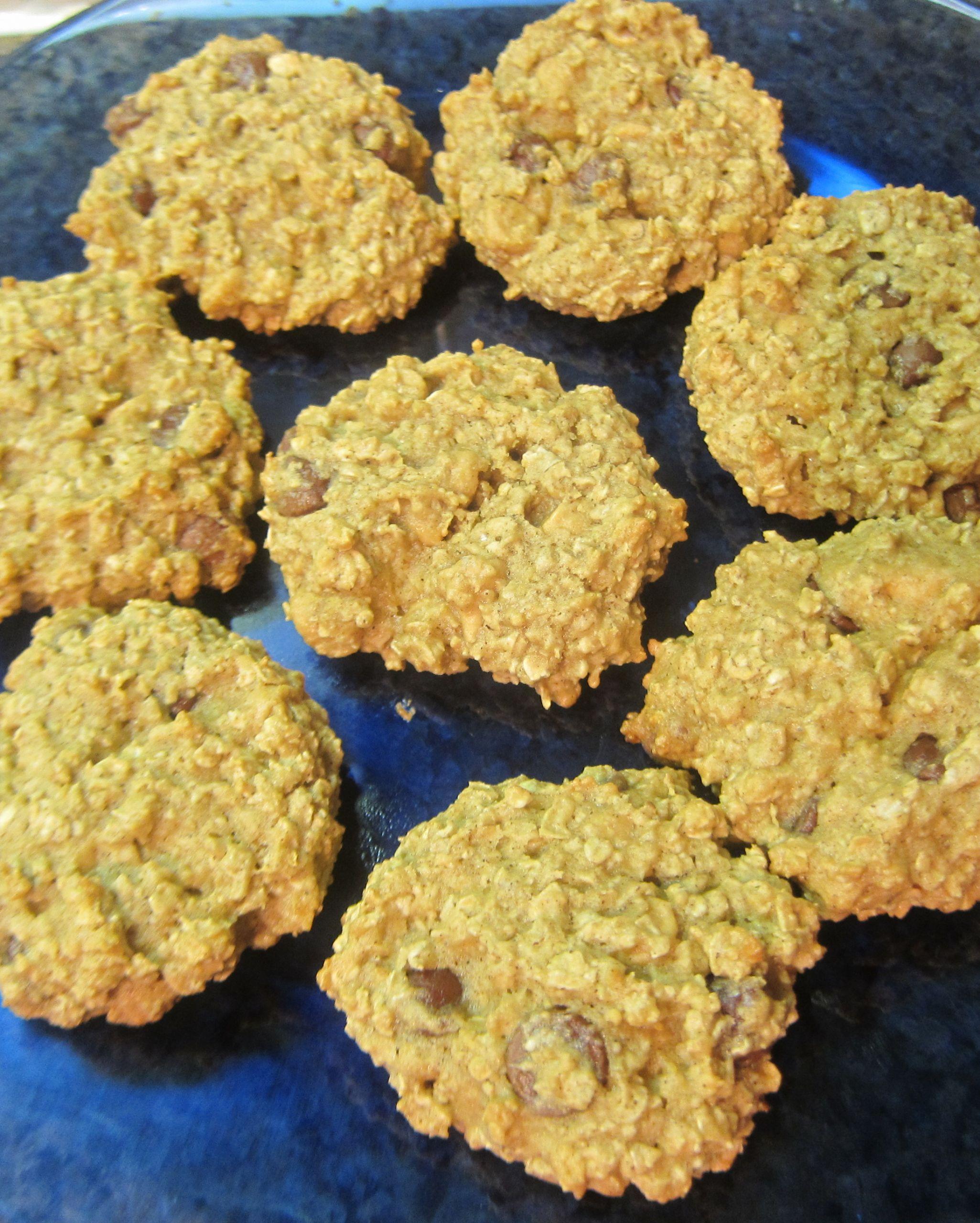 Low Fat Low Sugar Oatmeal Cookies  low fat less sugar oatmeal chocolate chip cookies