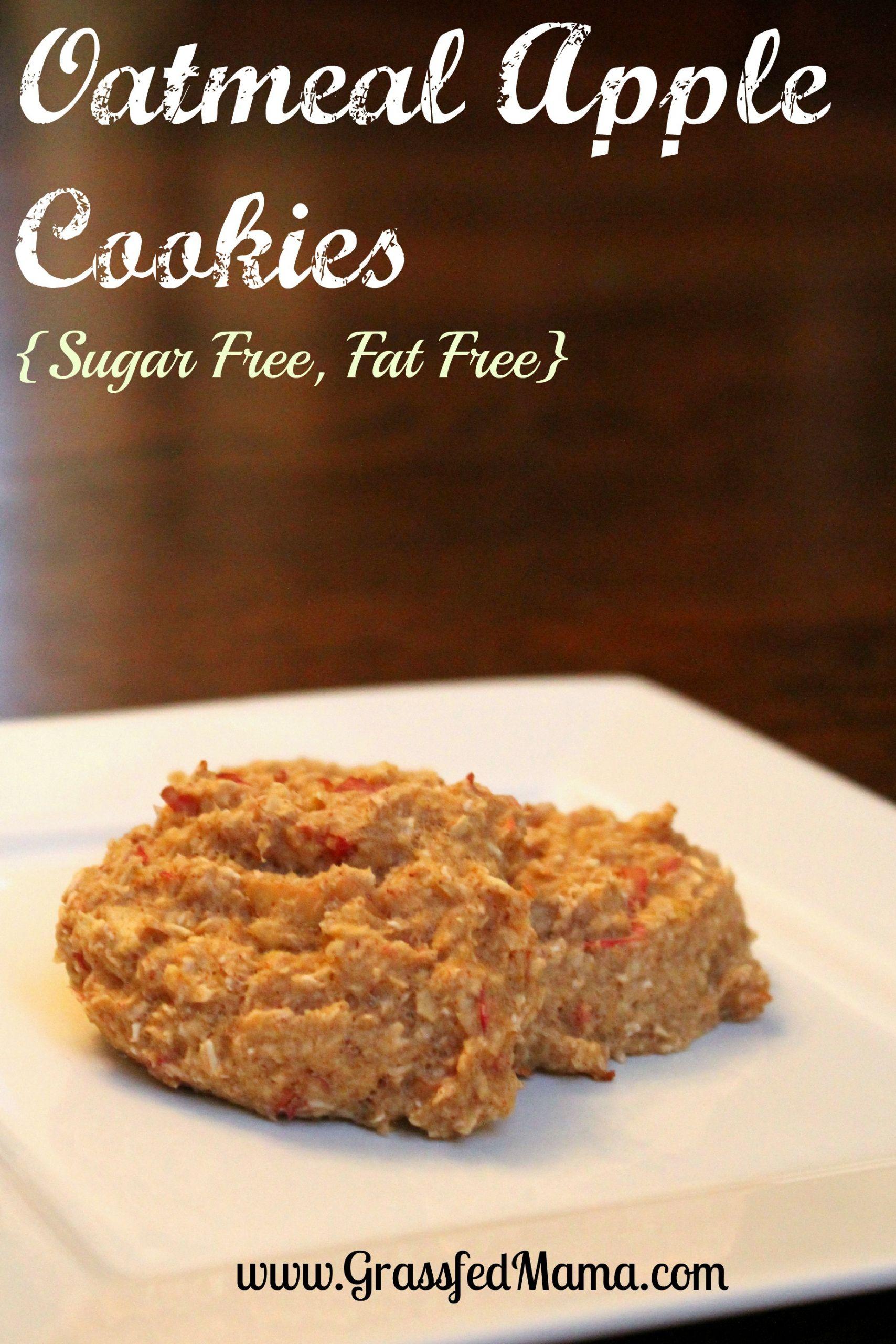Low Fat Low Sugar Oatmeal Cookies  Low Fat Low Sugar Oatmeal Apple Cookies Grassfed Mama