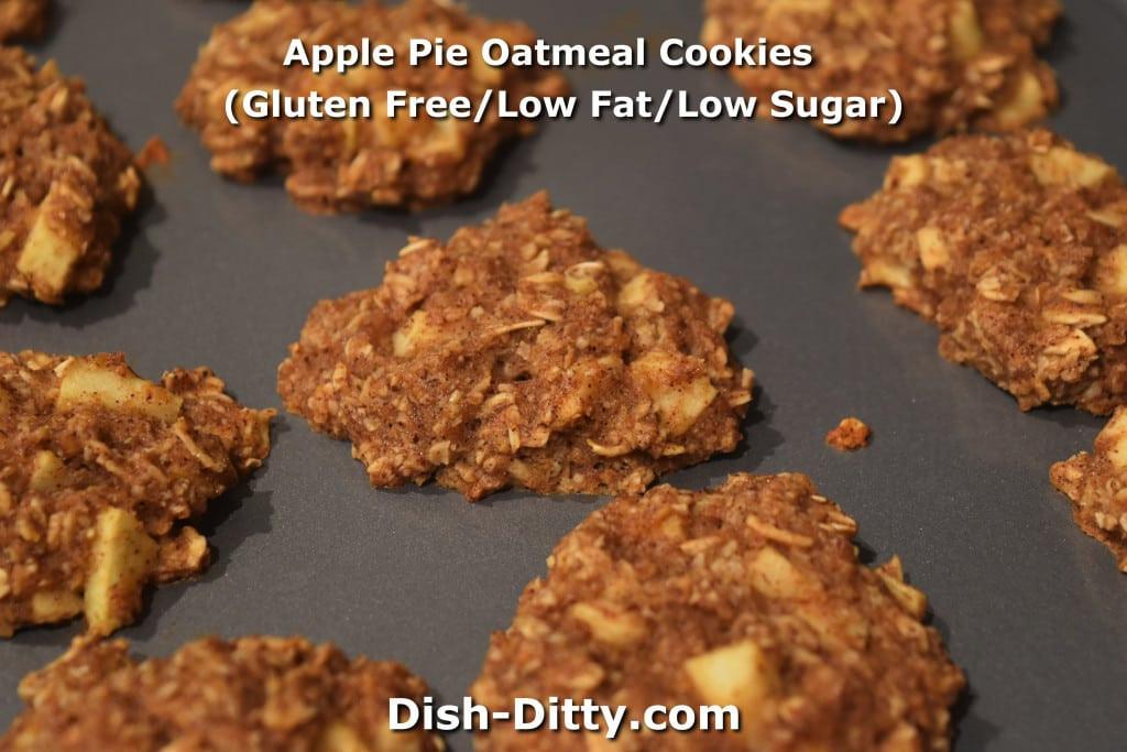 Low Fat Low Sugar Oatmeal Cookies  Apple Pie Oatmeal Cookies Gluten Free Low Fat Low Sugar