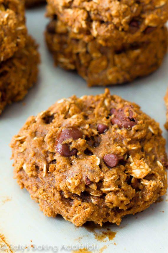 Low Fat Low Sugar Oatmeal Cookies  Healthy Oatmeal Raisinet Cookies Sallys Baking Addiction