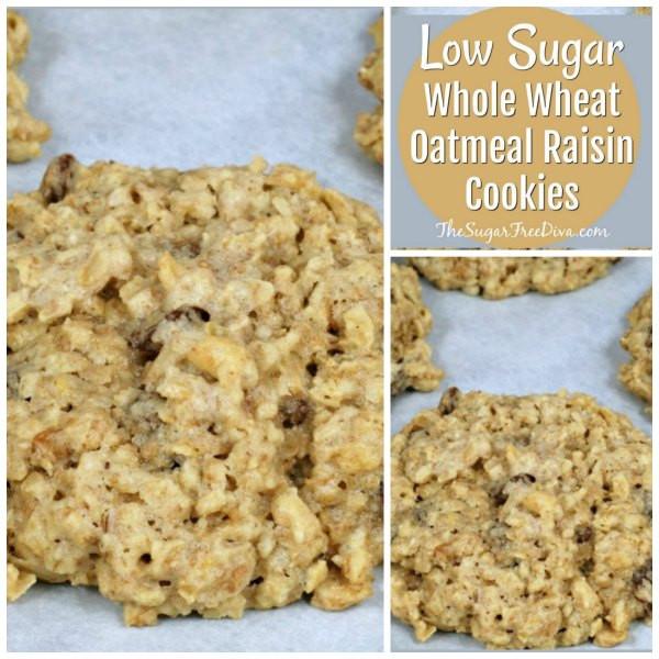 Low Fat Low Sugar Oatmeal Cookies  Low Sugar Whole Wheat Oatmeal Raisin Cookies Recipe